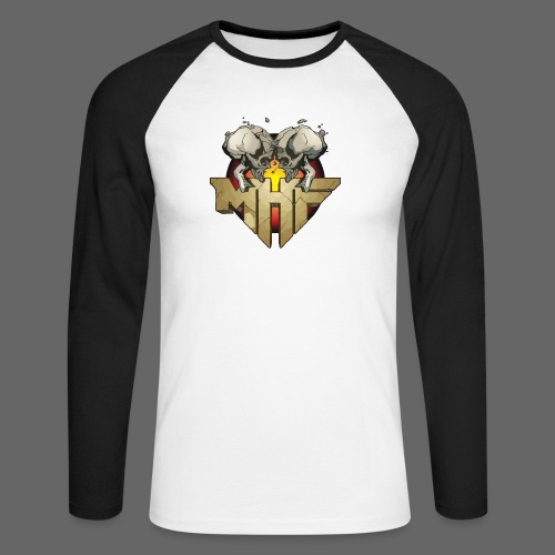 new mhf logo - Men's Long Sleeve Baseball T-Shirt