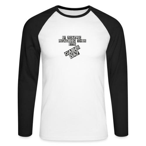 gainsday - Langærmet herre-baseballshirt