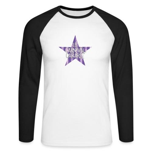 bonnet LCC noir etoie violette - Men's Long Sleeve Baseball T-Shirt