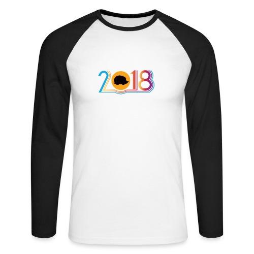Frohes neues Jahr 2018 Igeldesign - Männer Baseballshirt langarm