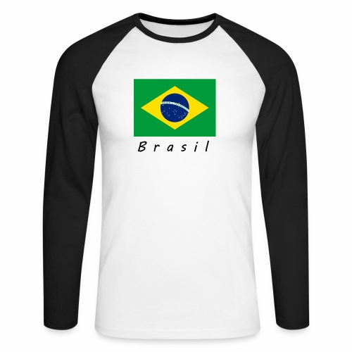 Brasil - Männer Baseballshirt langarm