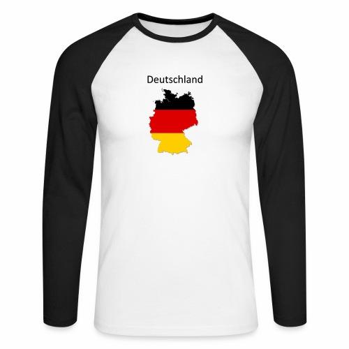 Deutschland Karte - Männer Baseballshirt langarm