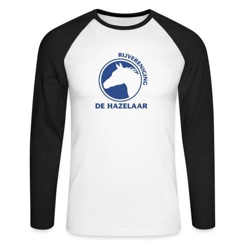 LgHazelaarPantoneReflexBl - Mannen baseballshirt lange mouw
