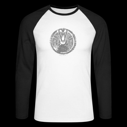 Maschinentelegraph (szary oldstyle) - Koszulka męska bejsbolowa z długim rękawem