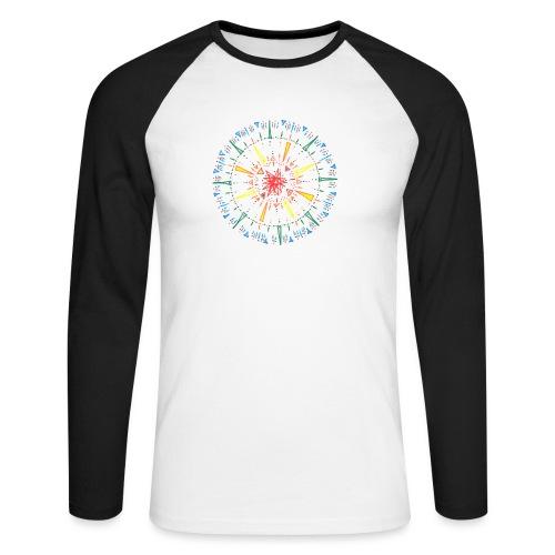 Attention - Men's Long Sleeve Baseball T-Shirt