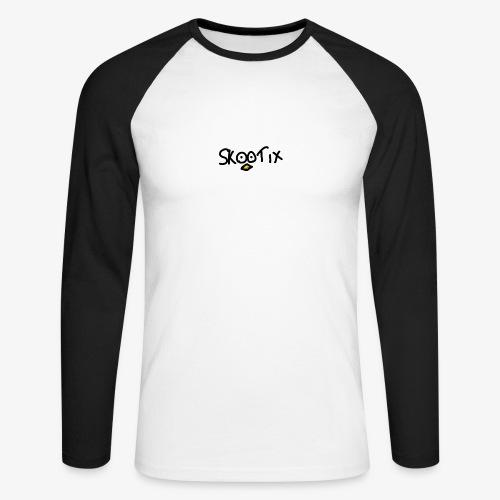skootix blanc - T-shirt baseball manches longues Homme