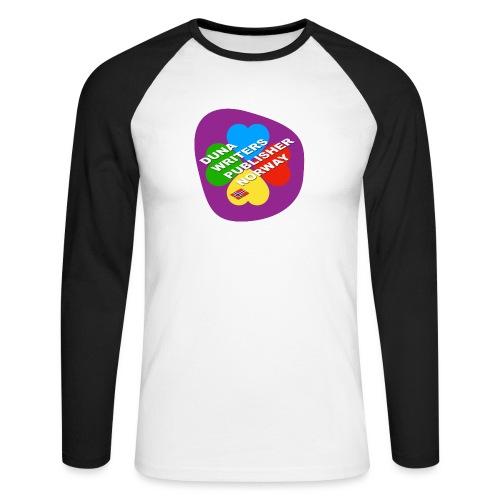 Duna Writers - Langermet baseball-skjorte for menn