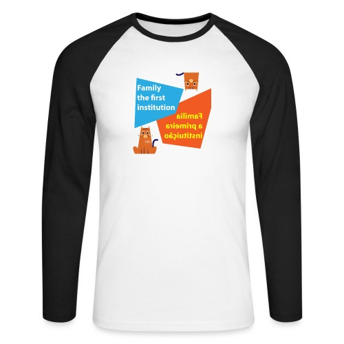 Duna Família - Langermet baseball-skjorte for menn
