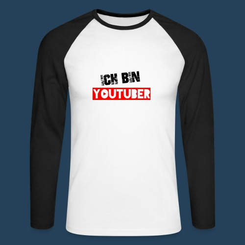 Ich bin Youtuber! - Männer Baseballshirt langarm