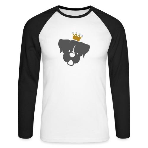 Prinz Poldi grau - Männer Baseballshirt langarm