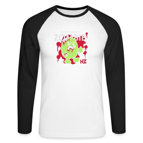 mr zombie - T-shirt baseball manches longues Homme