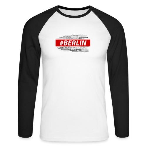 Hashtag Berlin - Männer Baseballshirt langarm