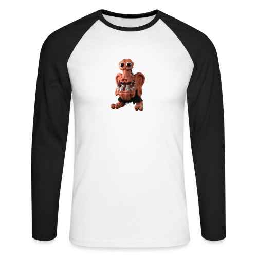 Very positive monster - Men's Long Sleeve Baseball T-Shirt