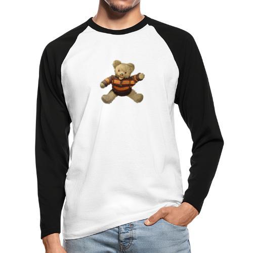 Teddybär - orange braun - Retro Vintage - Bär - Männer Baseballshirt langarm