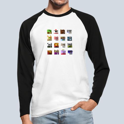 A Planet of Mine Animals - T-shirt baseball manches longues Homme