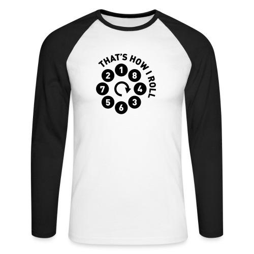 v8firingroll01b - Langermet baseball-skjorte for menn