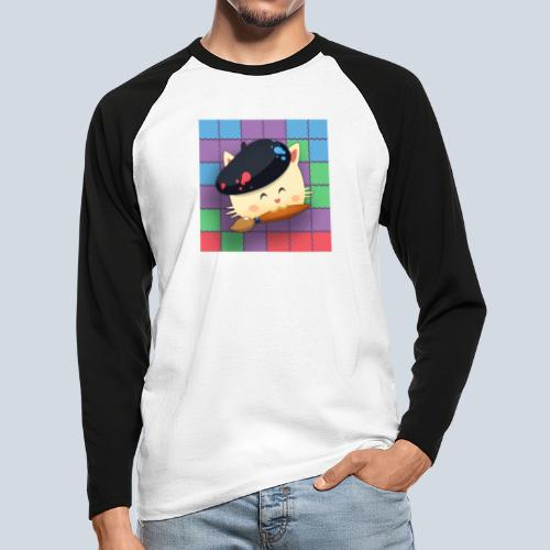 Hungry Cat Picross - T-shirt baseball manches longues Homme