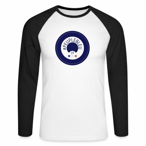 """#PEUPLEBLEU """"BORN COLLECTION"""" LIMITED EDITION 2019 - T-shirt baseball manches longues Homme"""