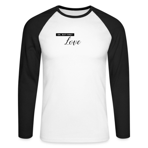 FIRST LOVE - Männer Baseballshirt langarm