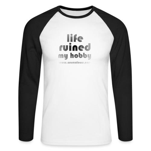 life ruined my hobby faded - Men's Long Sleeve Baseball T-Shirt
