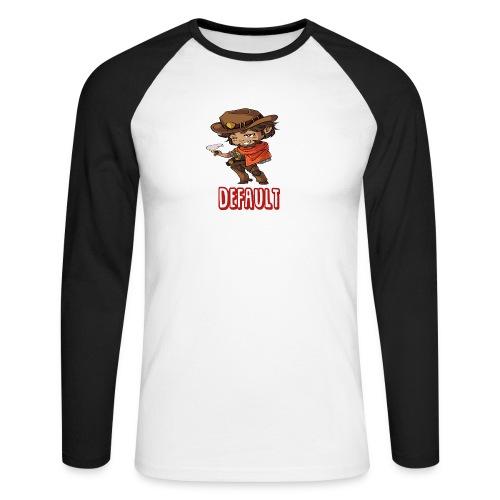 DeF Clan logo - Langermet baseball-skjorte for menn