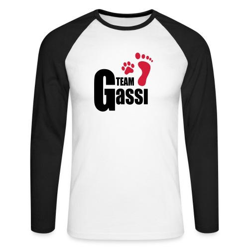 Team Gassi - Männer Baseballshirt langarm