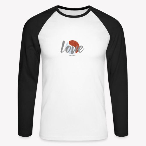 LOVE street wear - T-shirt baseball manches longues Homme