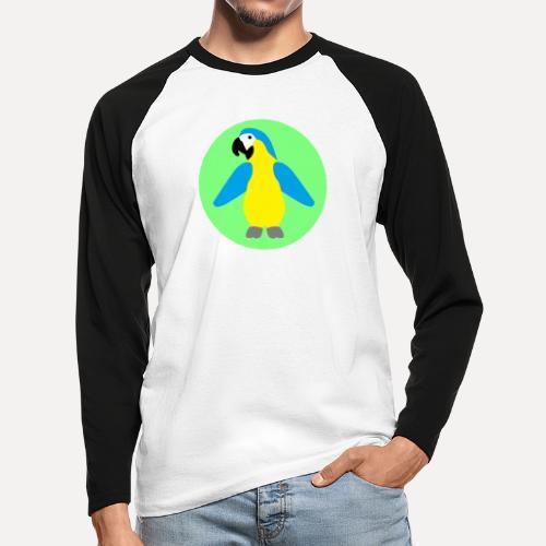 Yellow-breasted Macaw - Men's Long Sleeve Baseball T-Shirt