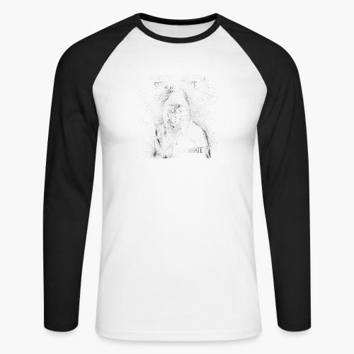 #NewHate Cover art - Langermet baseball-skjorte for menn