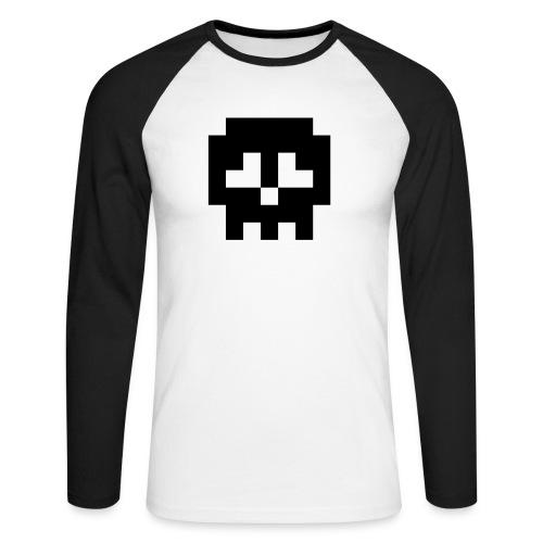 Retro Gaming Skull - Men's Long Sleeve Baseball T-Shirt