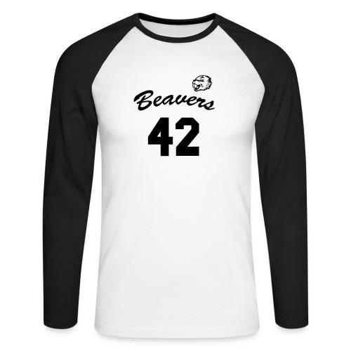 Beavers front - Mannen baseballshirt lange mouw