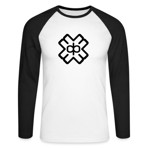 d3ep logo black png - Men's Long Sleeve Baseball T-Shirt