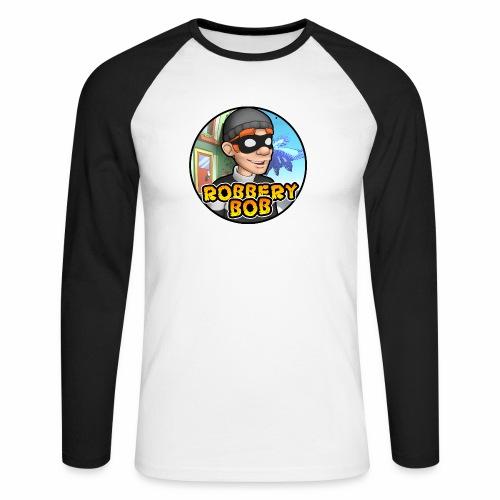 Robbery Bob Button - Men's Long Sleeve Baseball T-Shirt