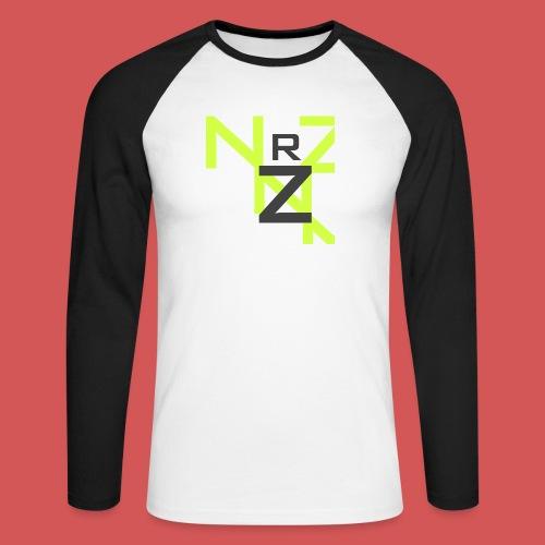 Nörthstat Group™ Clear Transparent Main Logo - Men's Long Sleeve Baseball T-Shirt