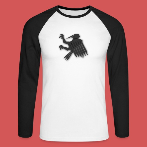 Nörthstat Group ™ Black Alaeagle - Men's Long Sleeve Baseball T-Shirt