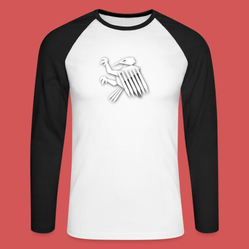 Nörthstat Group ™ White Alaeagle - Men's Long Sleeve Baseball T-Shirt