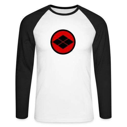 Takeda kamon Japanese samurai clan round - Men's Long Sleeve Baseball T-Shirt