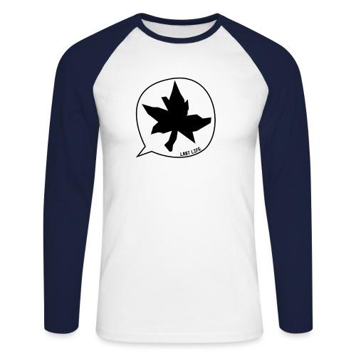 Speech Bubble Last Life - Men's Long Sleeve Baseball T-Shirt