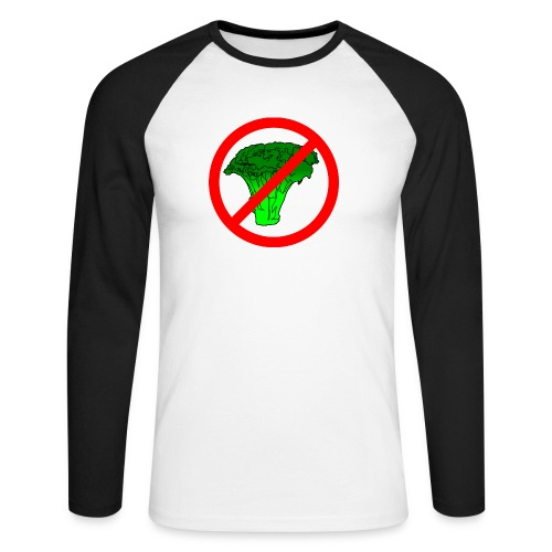 no broccoli allowed - Men's Long Sleeve Baseball T-Shirt