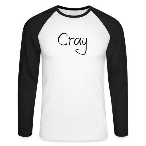 Cray Black Schrifft - Männer Baseballshirt langarm