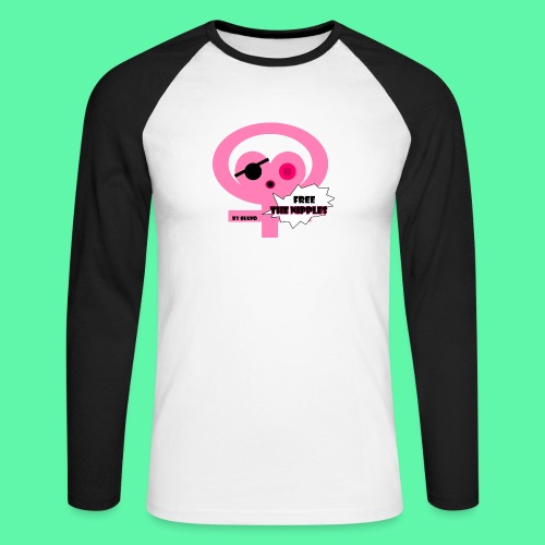 Free the nipples - Langærmet herre-baseballshirt
