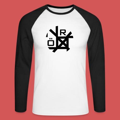 Nörthstat Group™ TecH   iCon - WHT.Knapsack - Men's Long Sleeve Baseball T-Shirt