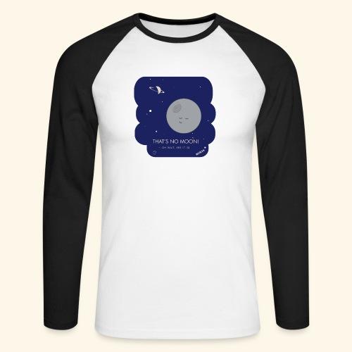 Mimas - Thats no moon - Långärmad basebolltröja herr