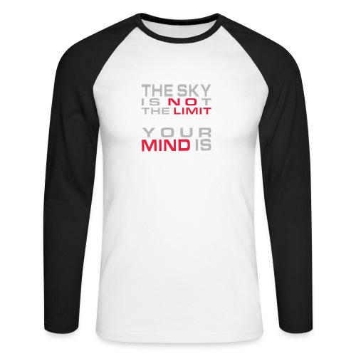 No Limit Mind - Männer Baseballshirt langarm