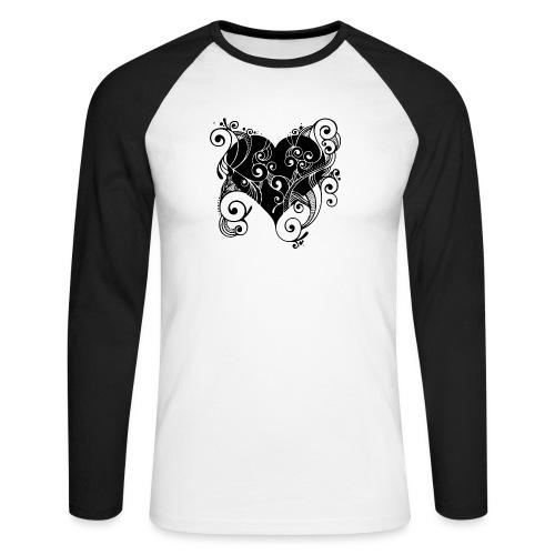 Isle of Heart Petal - Men's Long Sleeve Baseball T-Shirt