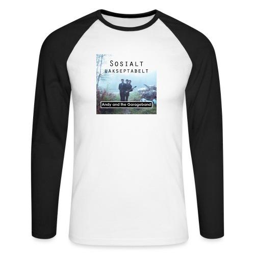 Sosialt Uakseptabelt - Langermet baseball-skjorte for menn