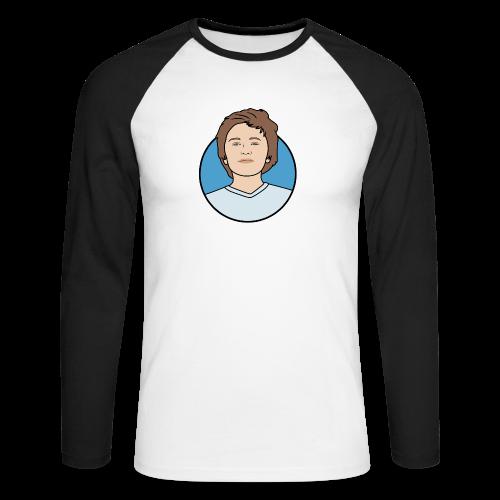 Logo - Mannen baseballshirt lange mouw