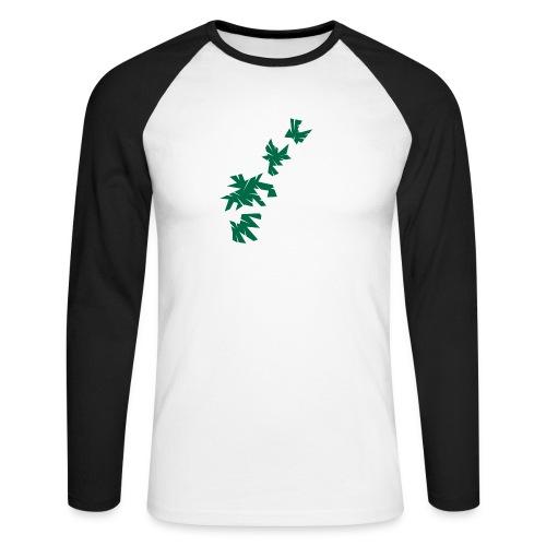 Green Leaves - Männer Baseballshirt langarm
