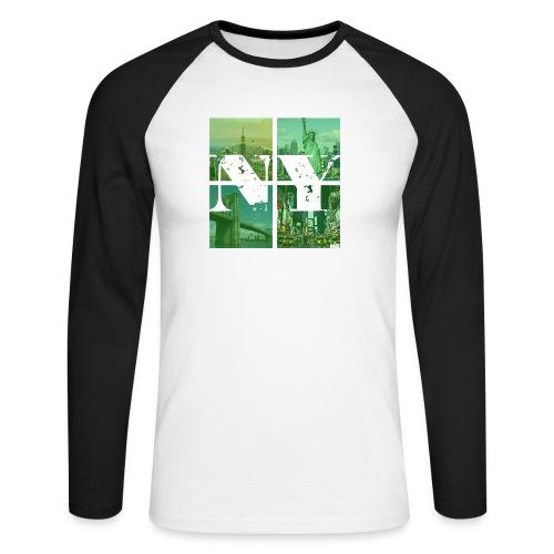 NEW YORK GREEN - Männer Baseballshirt langarm