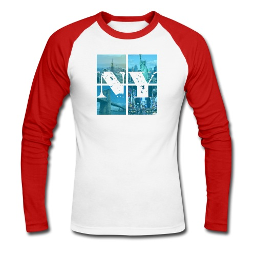 NEW YORK BLUE - Männer Baseballshirt langarm